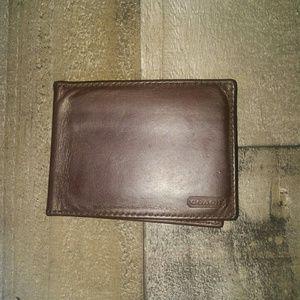 Vintage Coach men's slim wallet